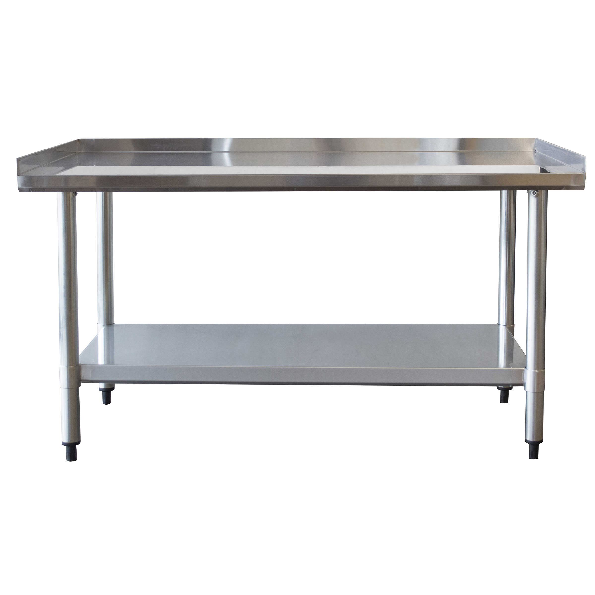 Sportsman Series Upturned Edge Stainless Steel Work Table 24 x 48 Inches