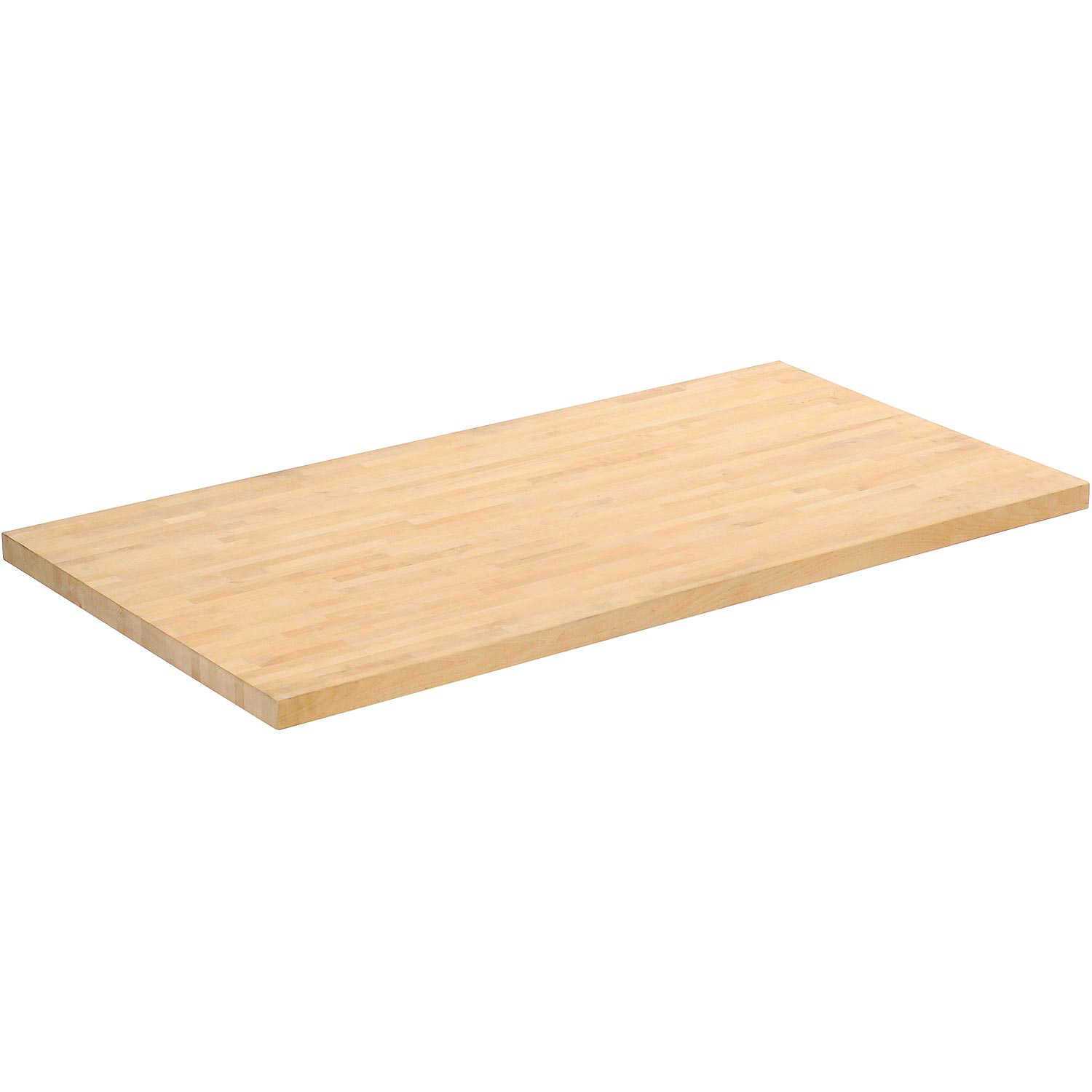 Workbench Top - Birch Butcher Block Square Edge, 48'W x 36'D x 1-3/4' Thick, Lot of 1