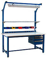 BenchPro KF3660 Kennedy Heavy Duty Steel Work Bench with Laminate Top, 6600 lbs Capacity, 60' Width x 30' Height x 36' Depth