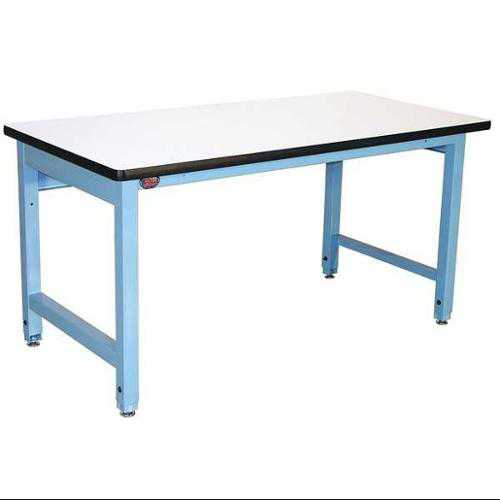PRO-LINE HD6030P/L14/HDLE Ergo Workbench, Blue, 60Lx30Wx30H In.