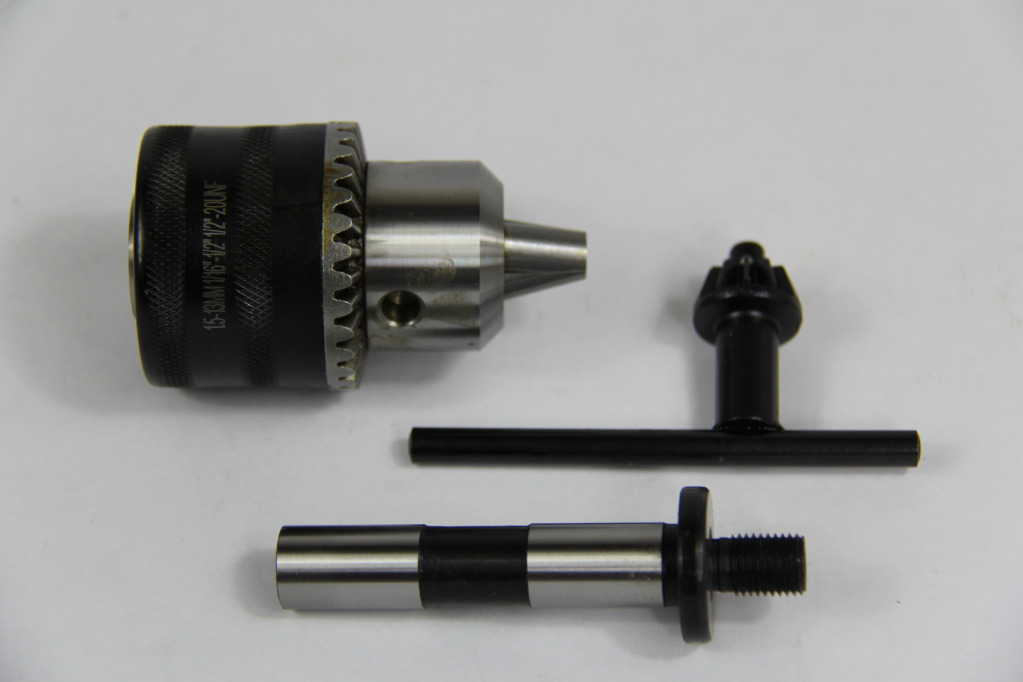 1/64-1/4' CAPACITY THREADED DRILL CHUCK & 3/8'-24 X1/2' SHANK ARBOR WOODWORKING