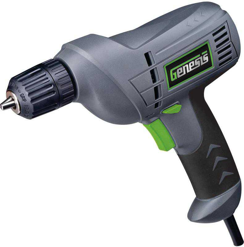 RichPower GD38B Corded Drill, 120 V, 4.2 A, 3/8 in Keyless Chuck, 0 - 3200 rpm