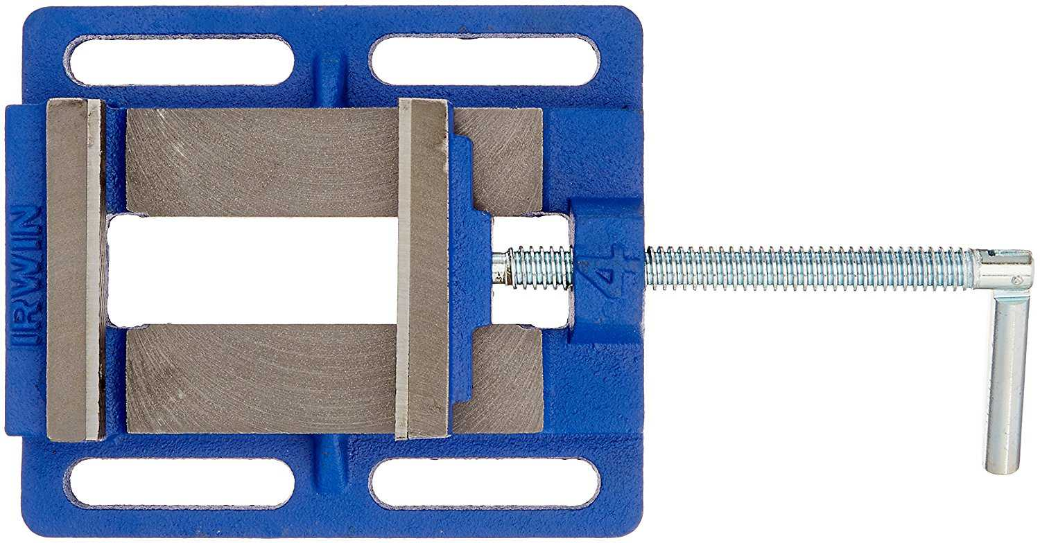 IRWIN Drill Press Vise, 4', 226340, Slotted base for easy installation and positioning By Irwin Tools