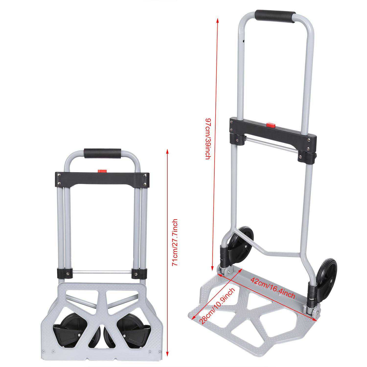 Portable Folding Hand Truck Dolly Luggage Carts Holds up to 220 lbs