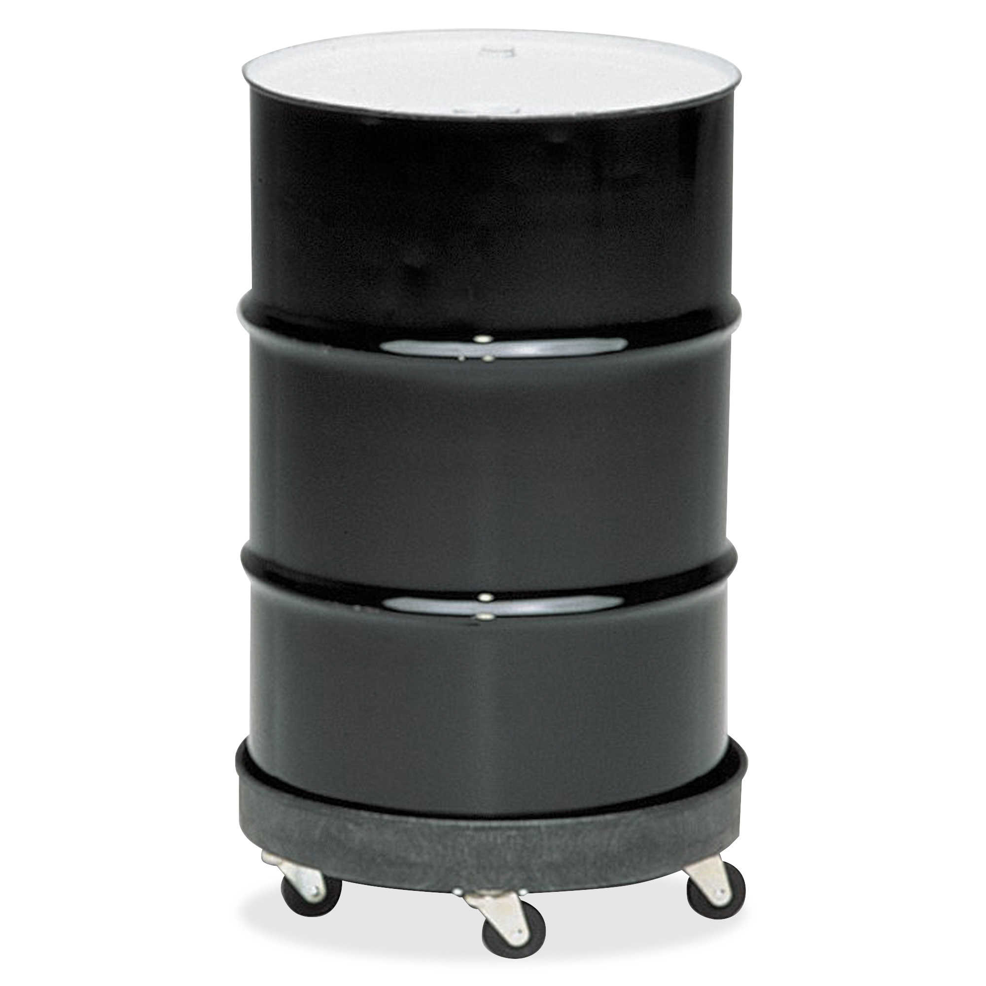 Rubbermaid Commercial Brute Container Universal Drum Dolly, 500lb, Black