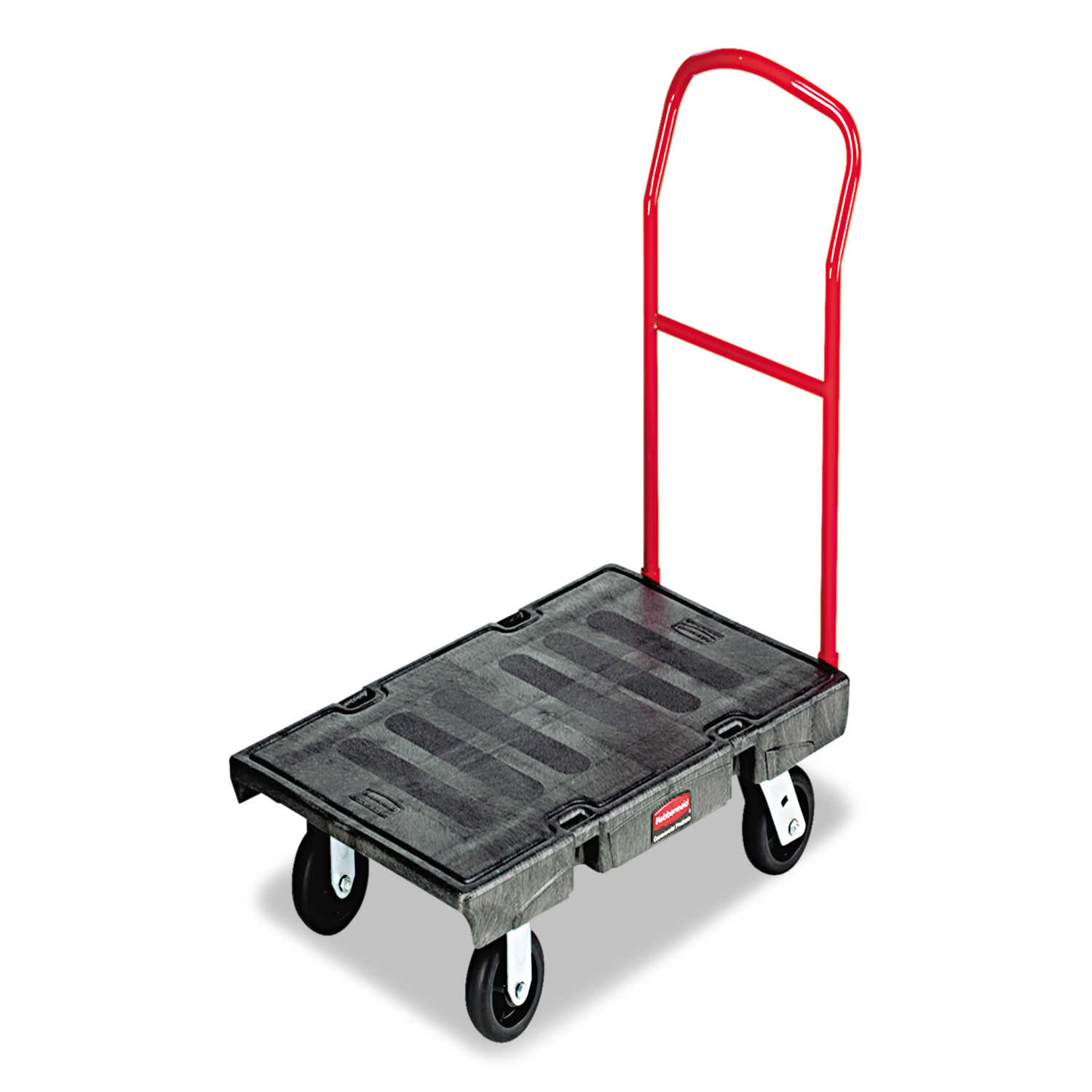 Rubbermaid Commercial Heavy-Duty Platform Truck Cart, 2000 lb Capacity, 24' x 48' Platform, Black