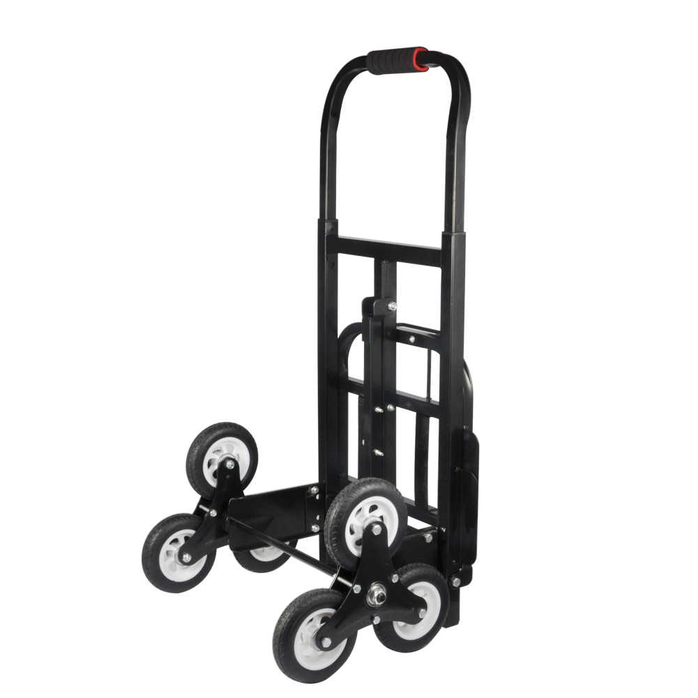 Stair Climber Hand Truck, Estink 440lbs Capacity Solid Rubber Tiers Barrow Hand Truck Bracket Roll Cart Trolley