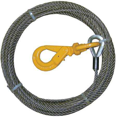B/A PRODUCTS CO. 4-38SC150LH Winch Cable, Steel, 3/8 In. x 150 ft.