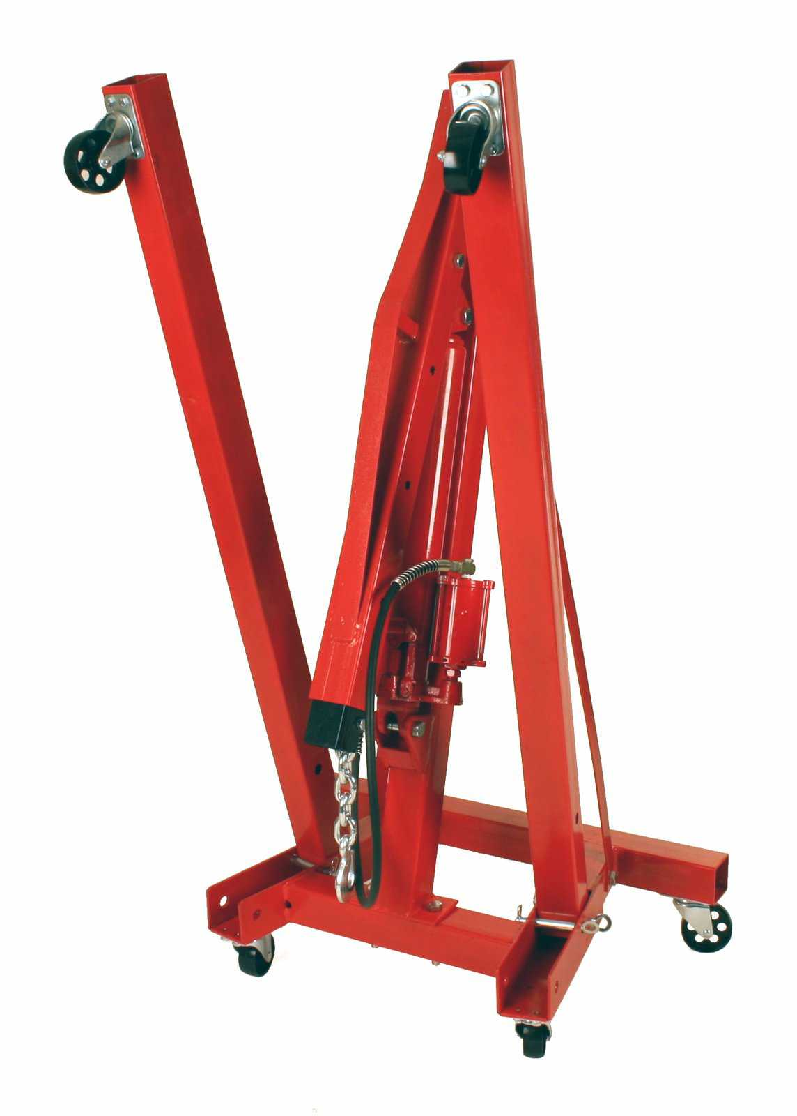 Dragway Tools 2 Ton Folding Air Hydraulic Engine Hoist Cherry Picker Shop Crane Hoist Lift