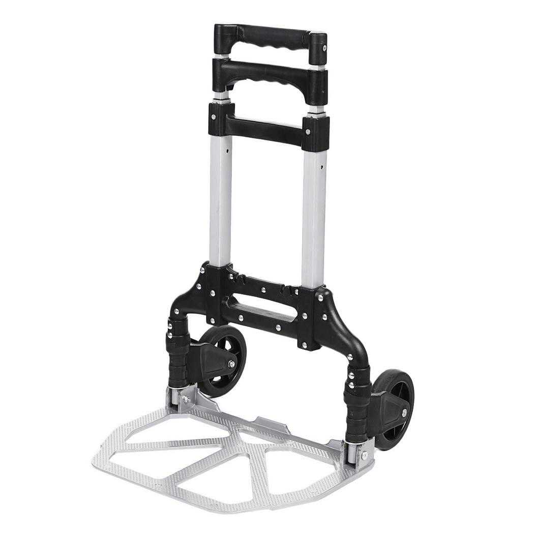 Cart Ideal 150 lb Capacity Steel Folding Hand Truck Dolly Luggage Carts BLLK