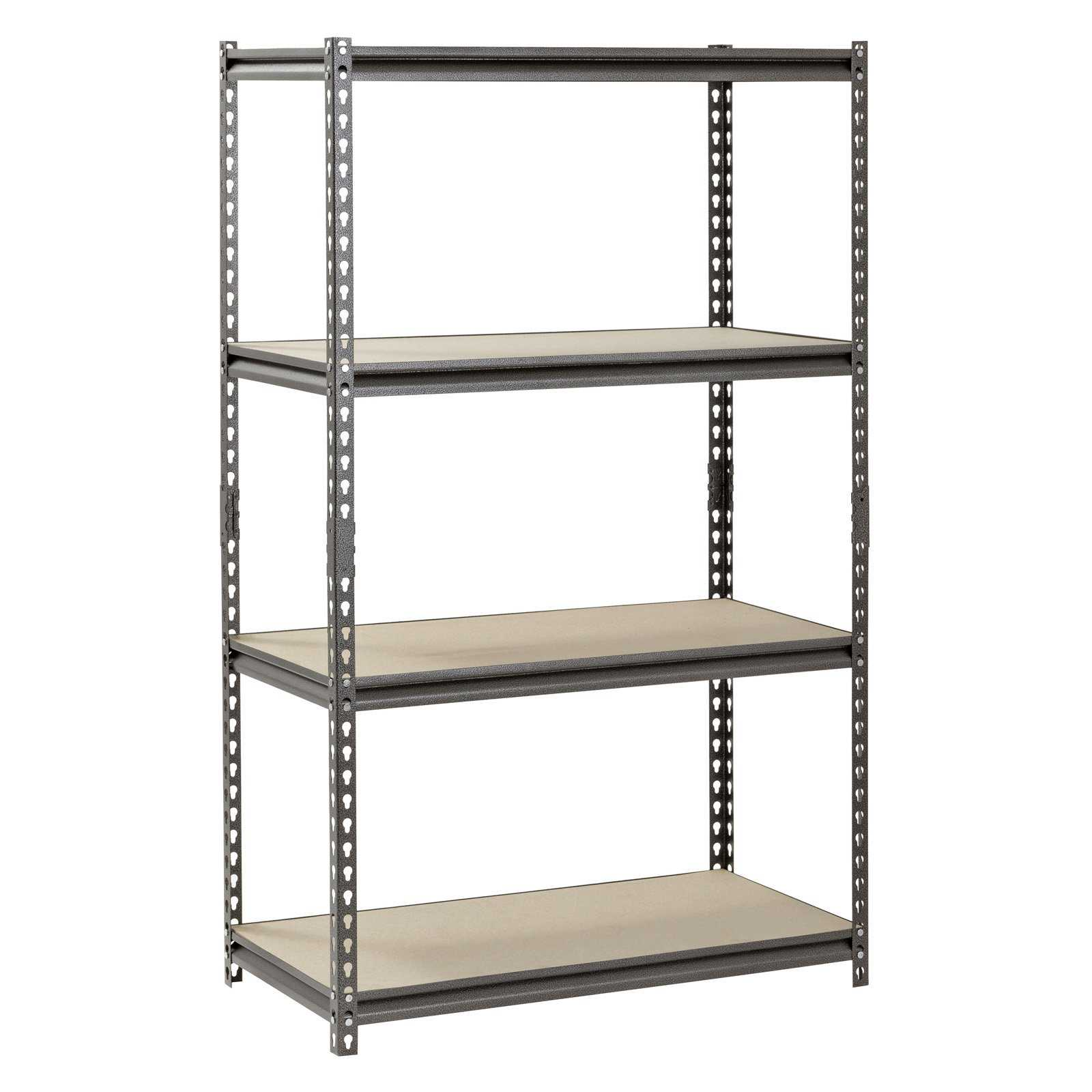Muscle Rack 4-Shelf Steel Shelving, Silver-Vein, 18' D x 36' W x 60' H