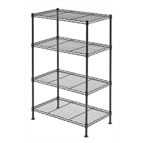 Muscle Rack 20'W x 12'D x 32'H Four-Level Wire Shelving, Black