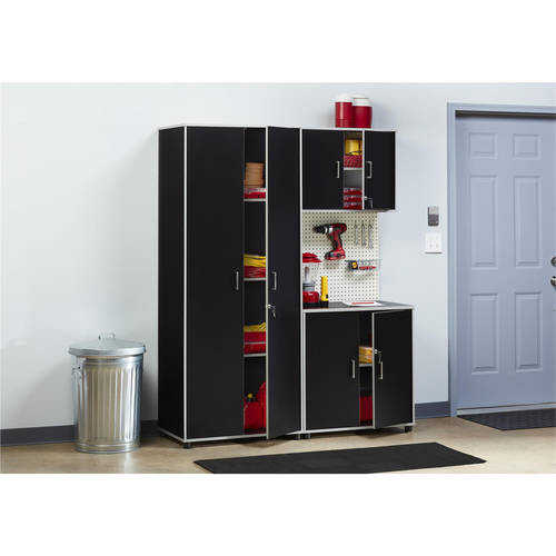 SystemBuild Apollo Tall Cabinet, Black