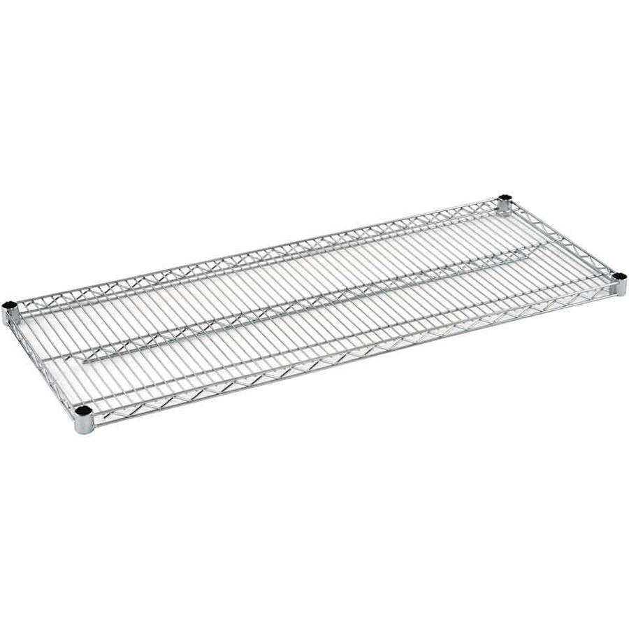 Muscle Rack 20'W x 12'D x 32'H Four-Level Wire Shelving, Chrome