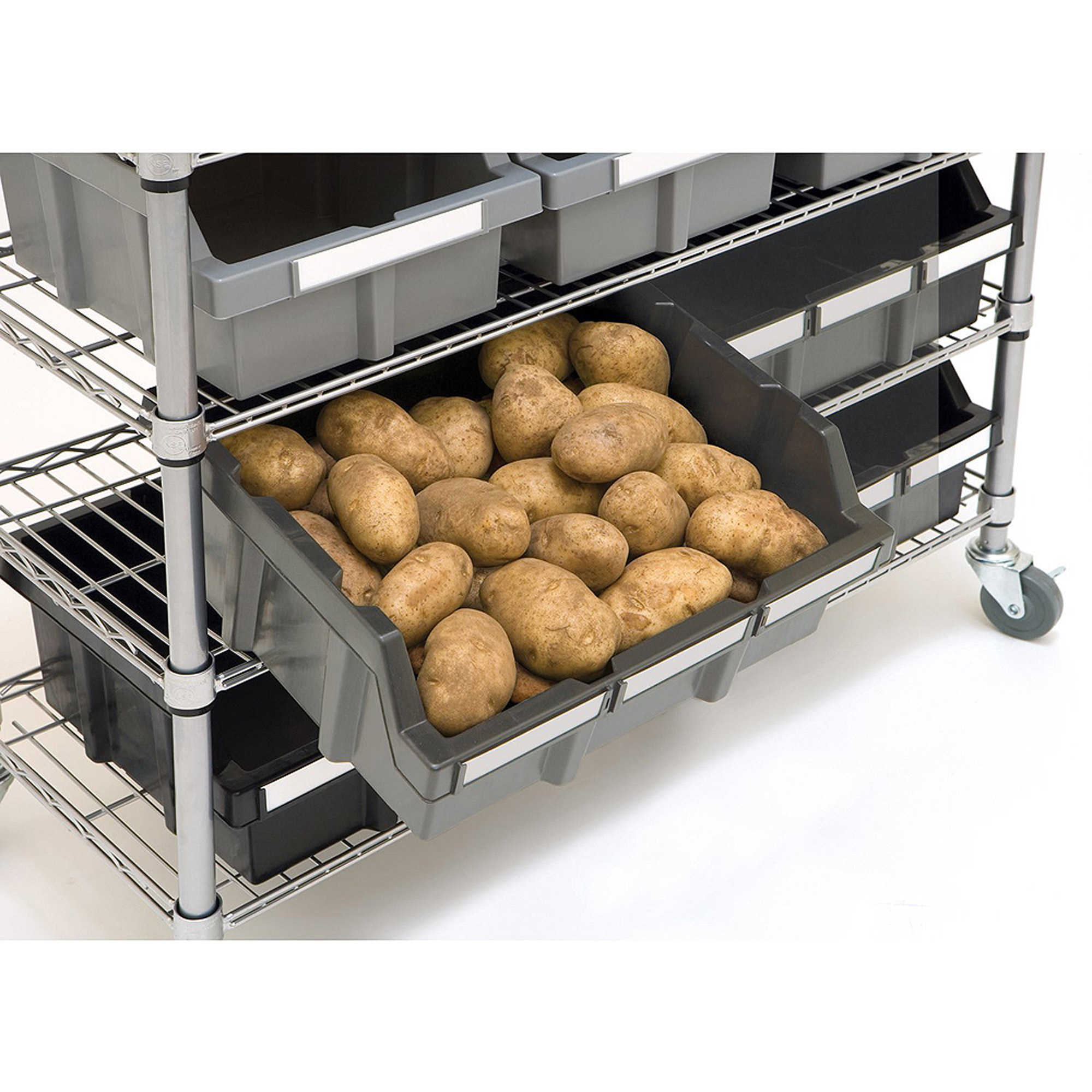 Seville Classics Commercial 7-Shelf 22-Bin Rack, SHE16511BX