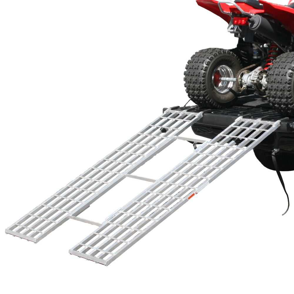 Black Widow Aluminum Tri-Fold Extra-Wide ATV Loading Ramp - 71' x 51'