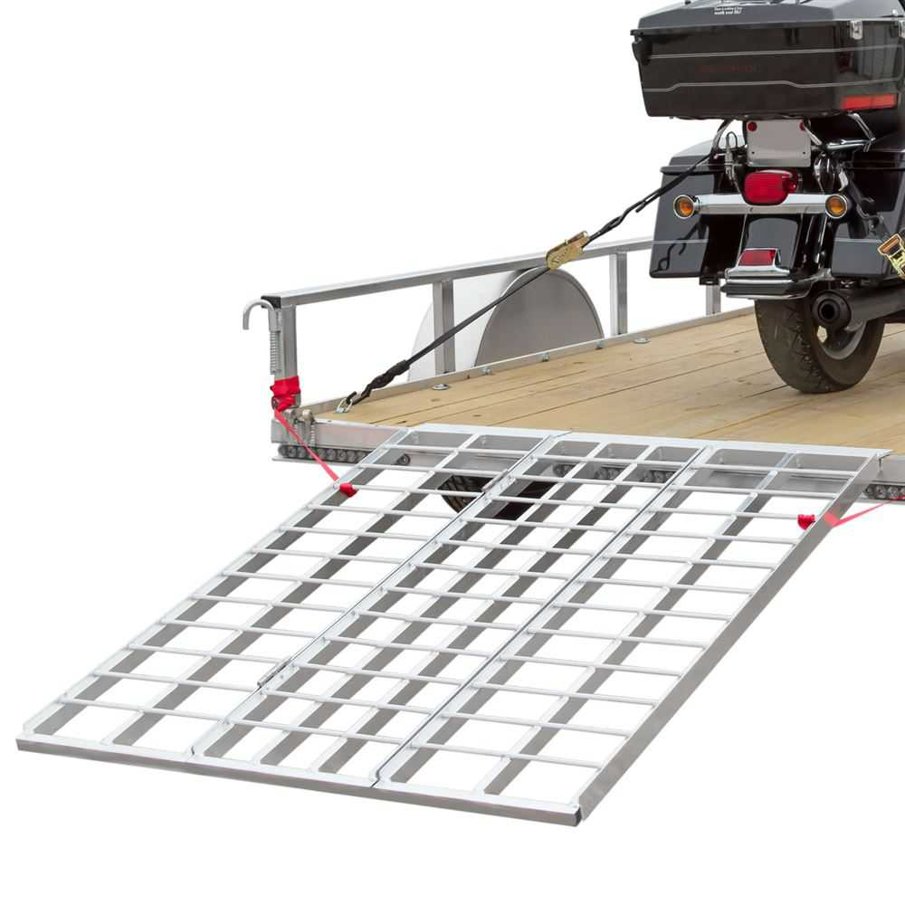 60' Triple Folding ATV, Motorcycle, Lawn Tractor Loading Ramps for Utility Trailers