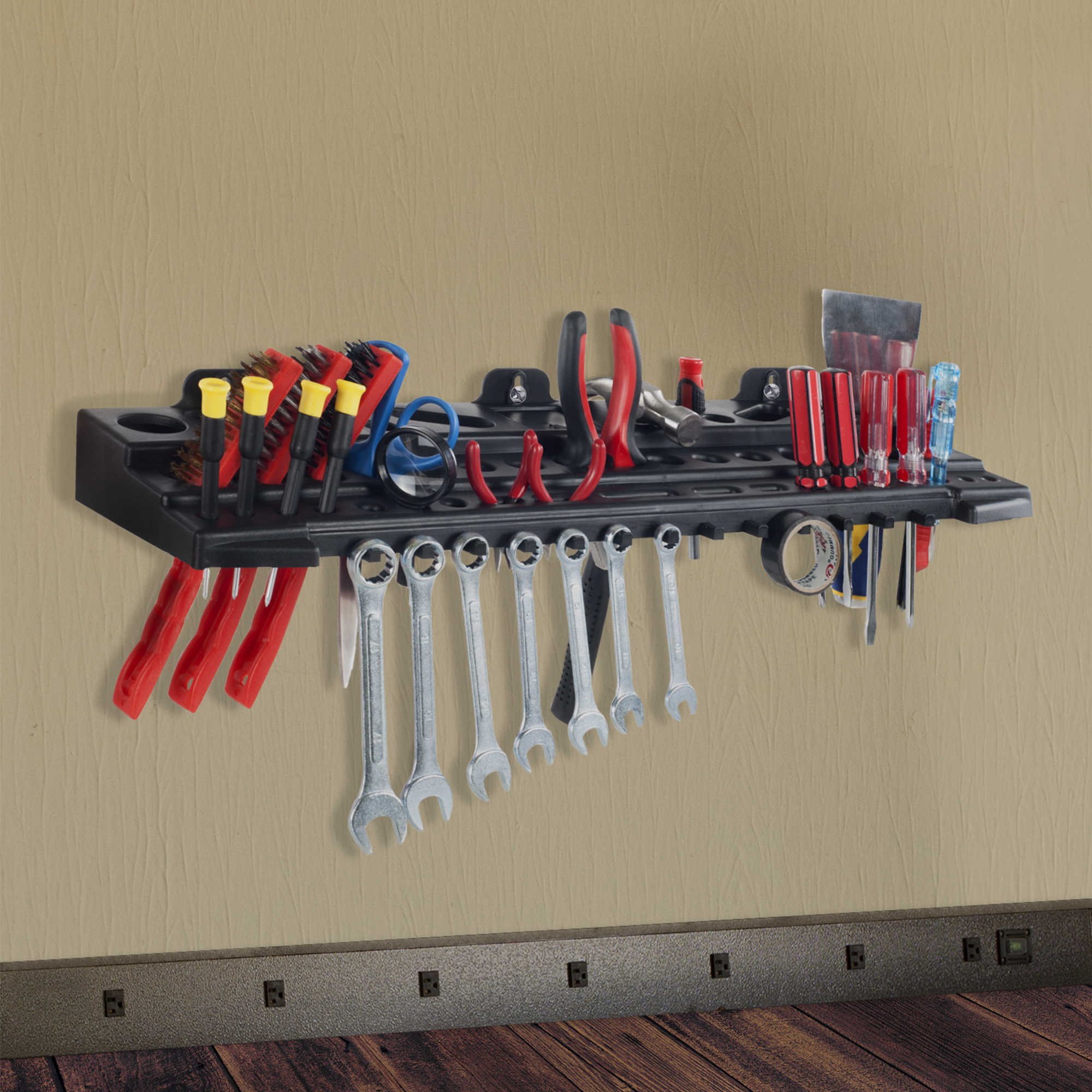 Multitool Organizer for Hand Tools, Automotive Tools, and Electric Tools, Wall Mounted Shelf by Stalwart